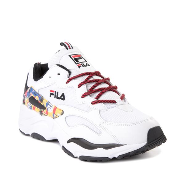 alternate view Mens Fila Ray Tracer Archive Athletic Shoe - White / Black / FireALT5