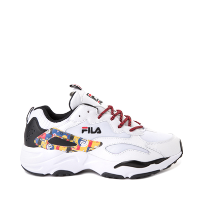 Main view of Mens Fila Ray Tracer Archive Athletic Shoe - White / Black / Fire