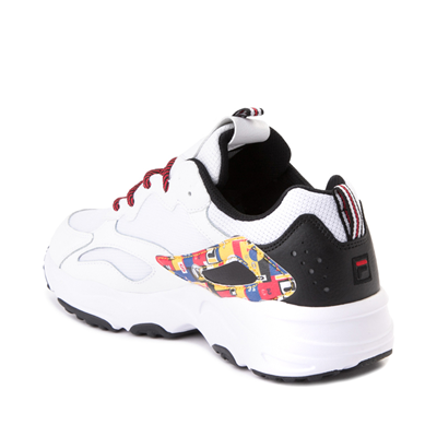Alternate view of Mens Fila Ray Tracer Archive Athletic Shoe - White / Black / Fire