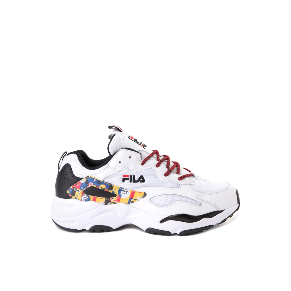 Mens Fila Ray Tracer Archive Athletic Shoe - White / Black / Fire
