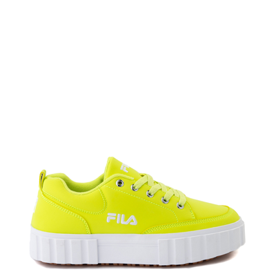 Main view of Womens Fila Sandblast Platform Athletic Shoe - Safety Yellow