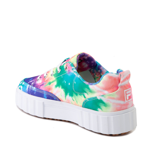 alternate view Womens Fila Sandblast Platform Athletic Shoe - Tie DyeALT1