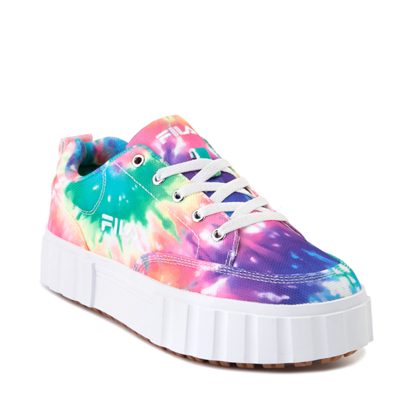 alternate view Womens Fila Sandblast Platform Athletic Shoe - Tie DyeALT5