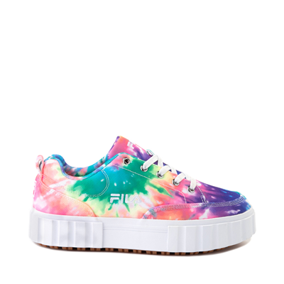 Main view of Womens Fila Sandblast Platform Athletic Shoe - Tie Dye