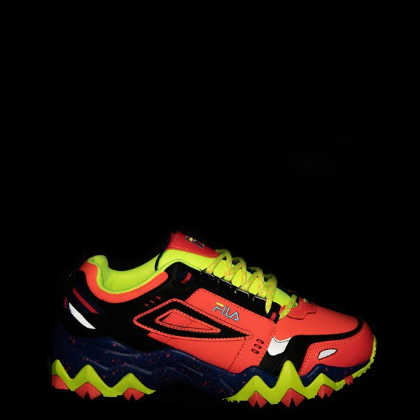 alternate view Womens Fila Oakmont TR Athletic Shoe - Fiery Coral / Mazarine Blue / BlackALT1