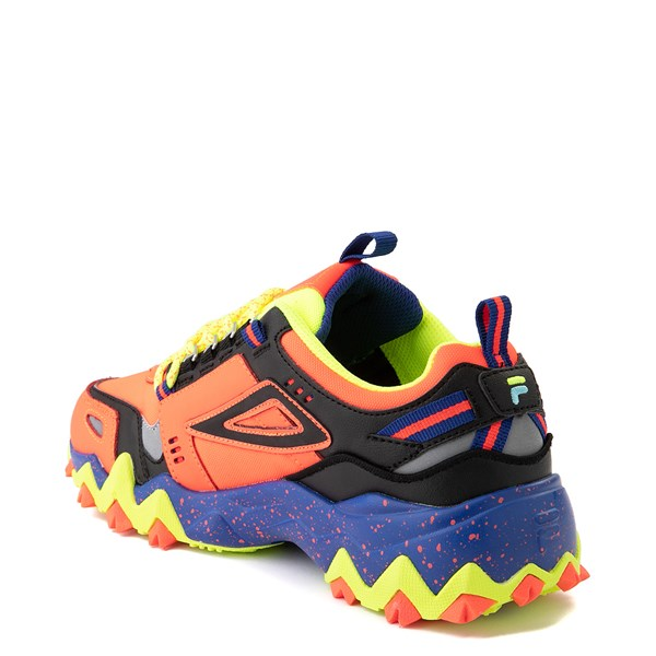 alternate view Womens Fila Oakmont TR Athletic Shoe - Fiery Coral / Mazarine Blue / BlackALT2