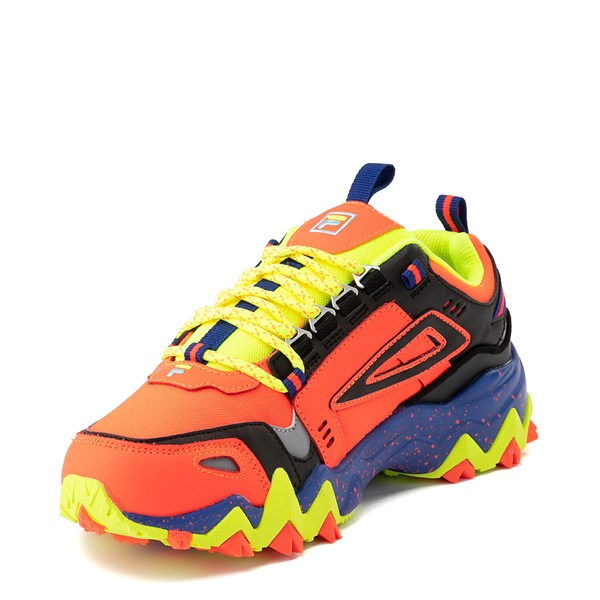 alternate view Womens Fila Oakmont TR Athletic Shoe - Fiery Coral / Mazarine Blue / BlackALT3