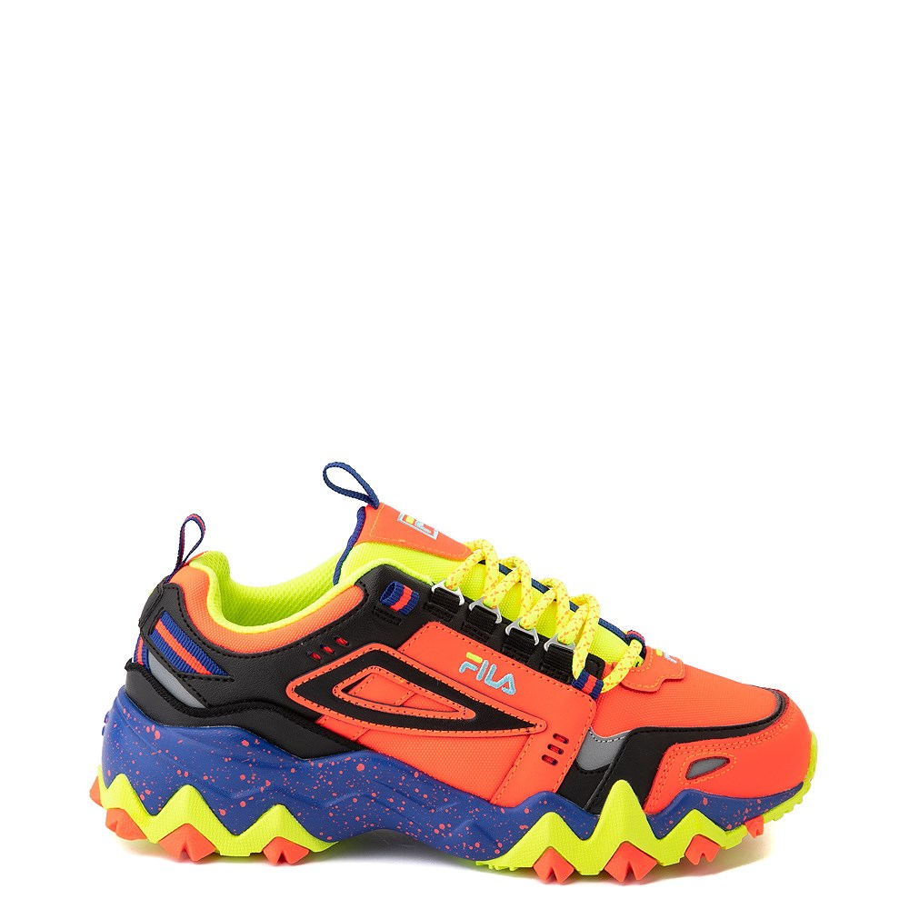 Womens Fila Oakmont TR Athletic Shoe - Fiery Coral / Mazarine Blue / Black