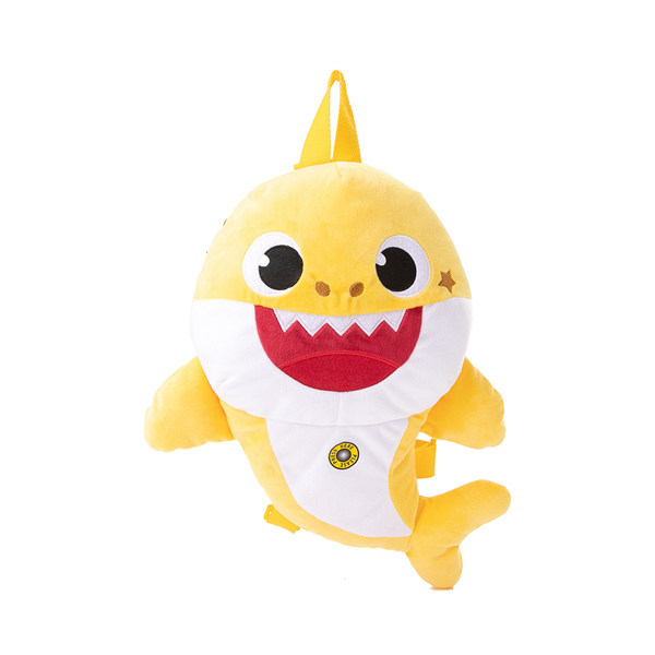 Main view of Baby Shark Plush Backpack - Yellow