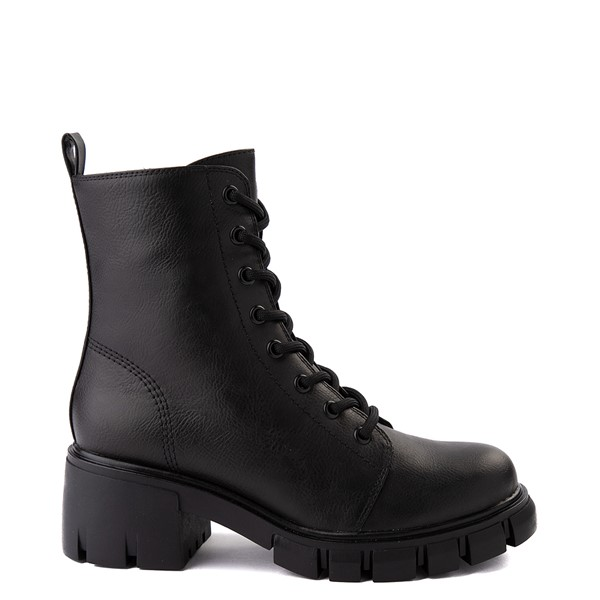 Main view of Womens MIA Marlee Combat Boot - Black