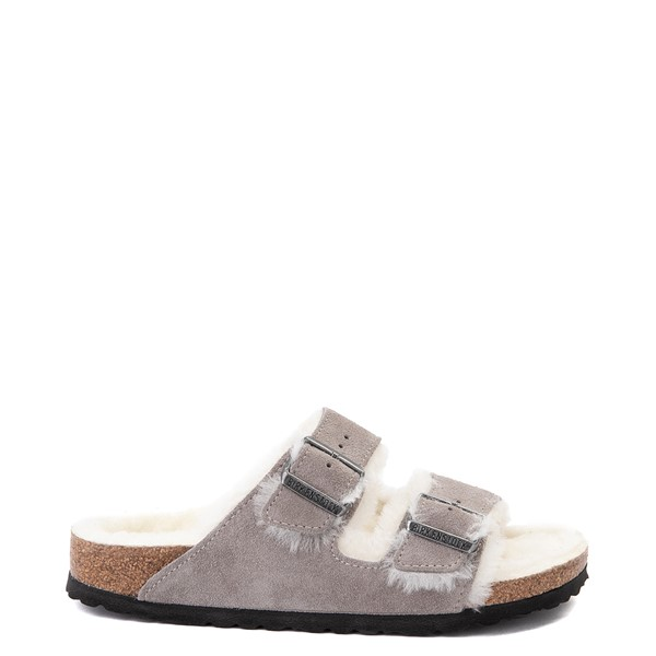 Main view of Womens Birkenstock Arizona Shearling Sandal - Stone Coin