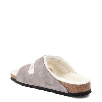 Alternate view of Womens Birkenstock Arizona Shearling Sandal - Stone Coin