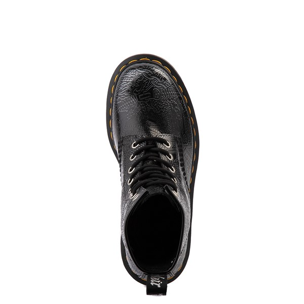 alternate view Dr. Martens1460 8-Eye Chain Emboss Boot - Black / SilverALT2