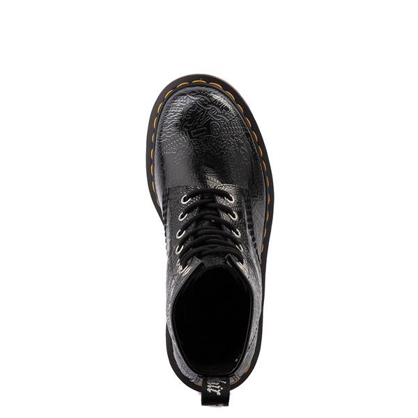 alternate view Dr. Martens1460 8-Eye Chain Emboss Boot - Black / SilverALT4B