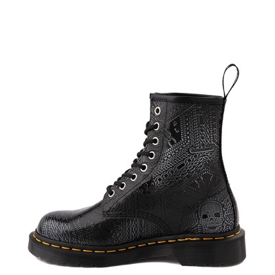 Alternate view of Dr. Martens1460 8-Eye Chain Emboss Boot - Black / Silver