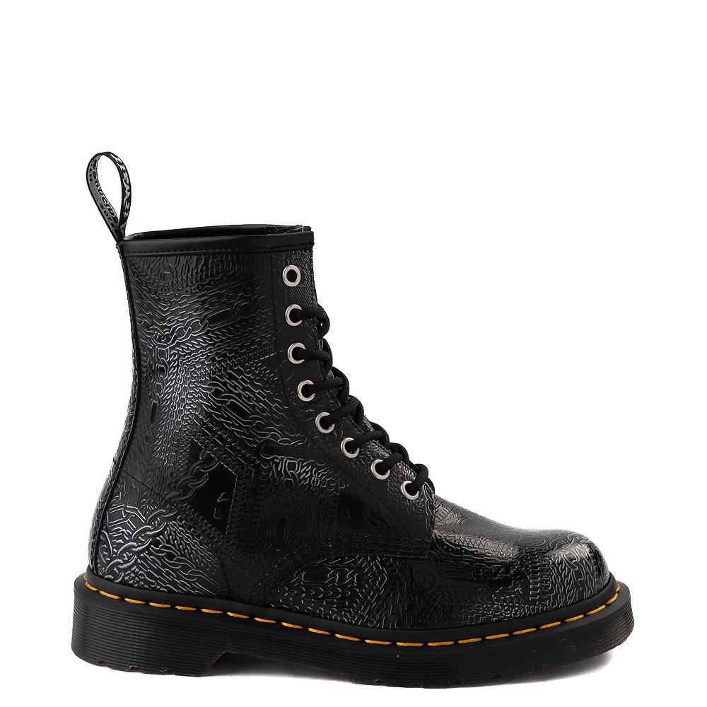 Dr. Martens1460 8-Eye Chain Emboss Boot - Black / Silver