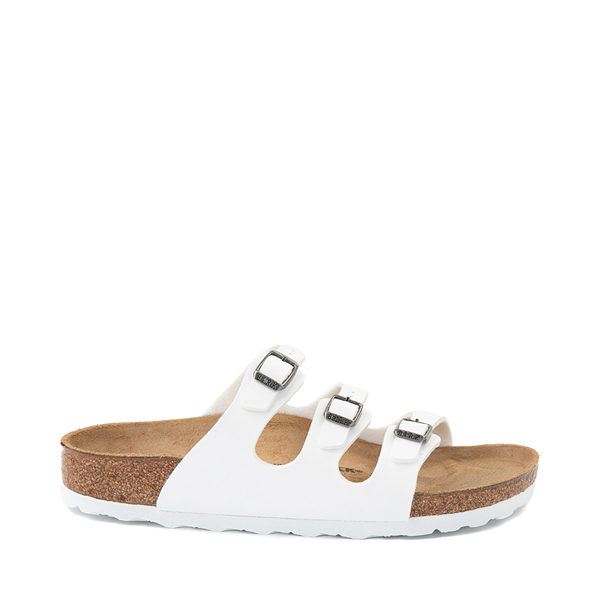 Main view of Womens Birkenstock Florida Sandal - White