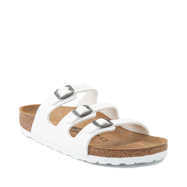 alternate view Womens Birkenstock Florida Sandal - WhiteALT5