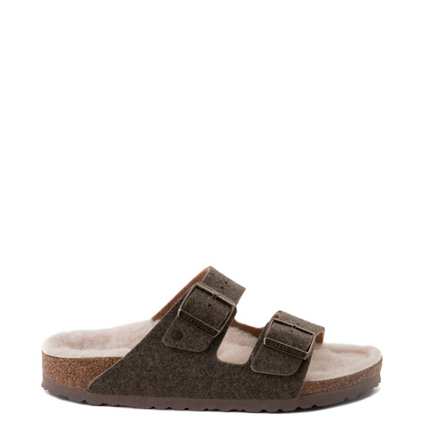 Main view of Womens Birkenstock Arizona Wool Felt Sandal - Khaki