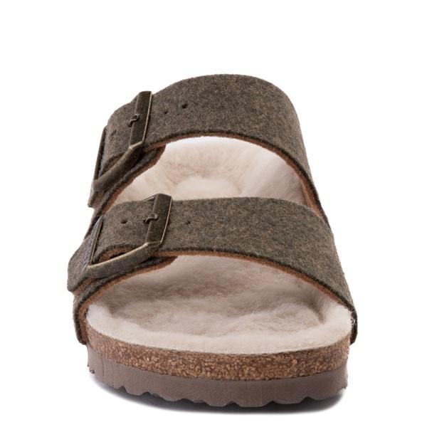 alternate view Womens Birkenstock Arizona Wool Felt Sandal - KhakiALT4