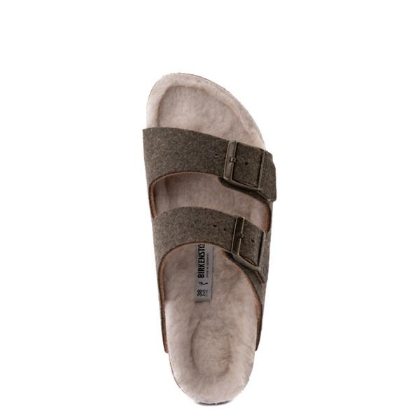 alternate view Womens Birkenstock Arizona Wool Felt Sandal - KhakiALT4B