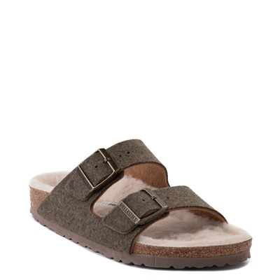 Alternate view of Womens Birkenstock Arizona Wool Felt Sandal - Khaki