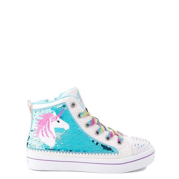 Skechers Flip Kicks Twi-Lites Unicorn Sneaker - Little Kid - White / Pink / Turquoise
