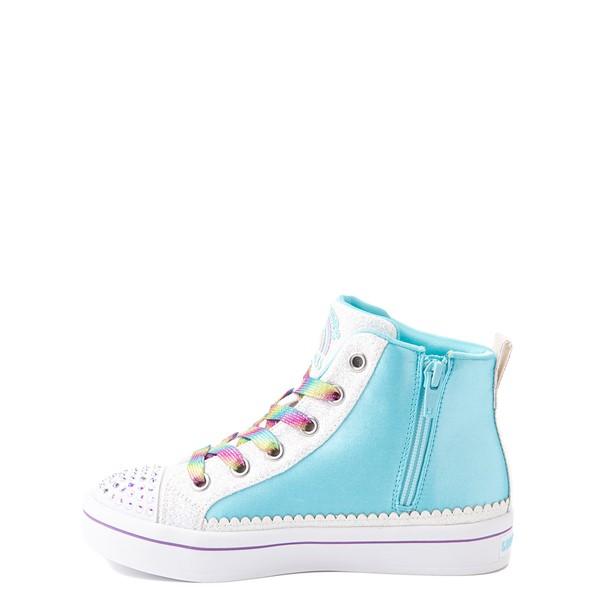 alternate view Skechers Flip Kicks Twi-Lites Unicorn Sneaker - Little Kid - White / Pink / TurquoiseALT1B