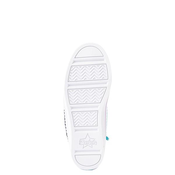 alternate view Skechers Flip Kicks Twi-Lites Unicorn Sneaker - Little Kid - White / Pink / TurquoiseALT3