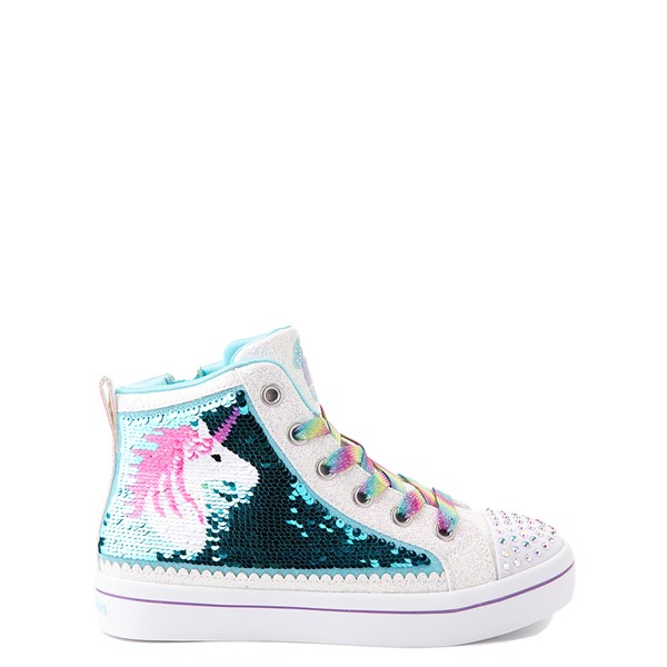 alternate view Skechers Flip Kicks Twi-Lites Unicorn Sneaker - Little Kid - White / Pink / TurquoiseALT6