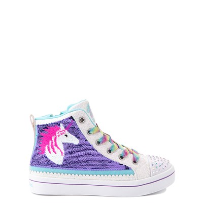 Alternate view of Skechers Flip Kicks Twi-Lights Unicorn Sneaker - Little Kid - White / Pink / Turquoise