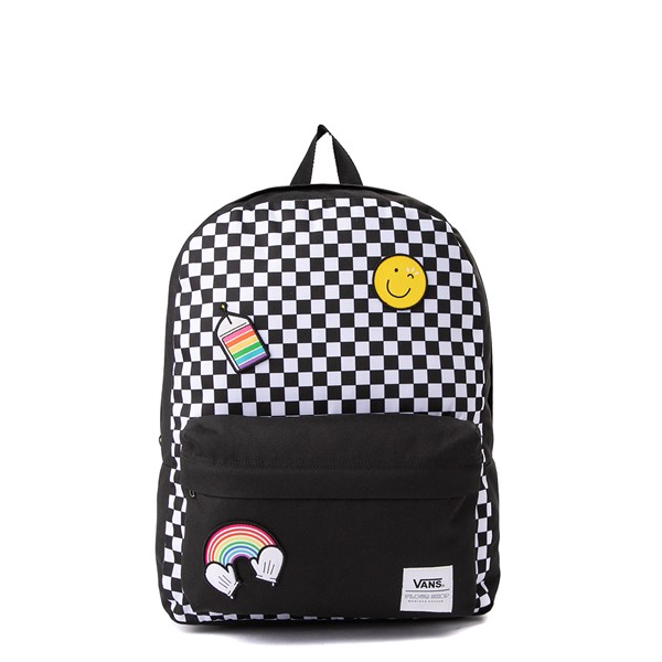 Main view of Vans x FLOUR SHOP Patch Mini Backpack - Black / White