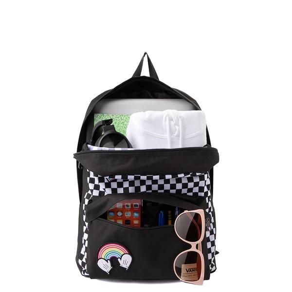 alternate view Vans x FLOUR SHOP Patch Mini Backpack - Black / WhiteALT1