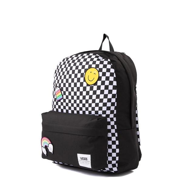 alternate view Vans x FLOUR SHOP Patch Mini Backpack - Black / WhiteALT4