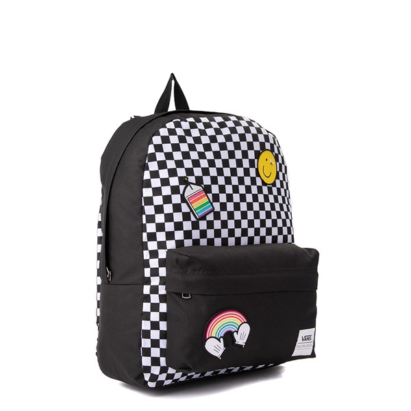 alternate view Vans x FLOUR SHOP Patch Mini Backpack - Black / WhiteALT4B