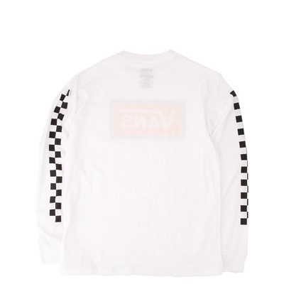 Alternate view of Vans Checkerboard Frame Long Sleeve Tee - Little Kid / Big Kid - White / Yellow