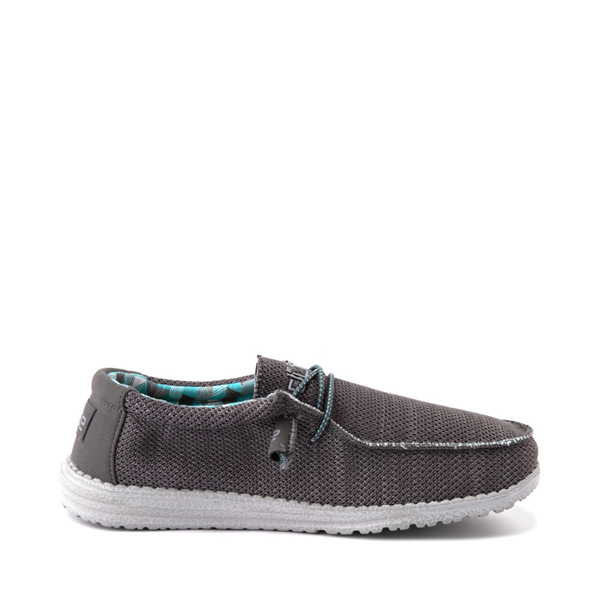 Mens Hey Dude Wally Sox Casual Shoe - Charcoal
