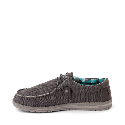 Alternate view of Mens Hey Dude Wally Sox Casual Shoe - Charcoal