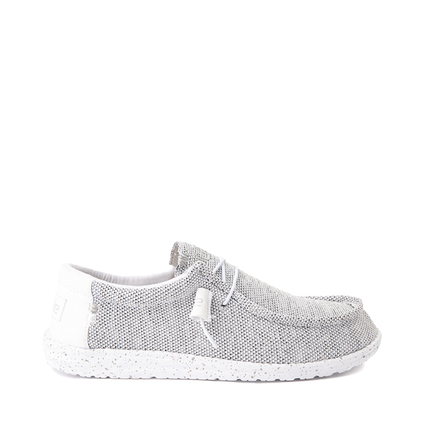 Mens Hey Dude Wally Sox Casual Shoe - White