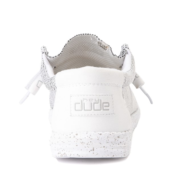 alternate view Mens Hey Dude Wally Sox Casual Shoe - WhiteALT2B