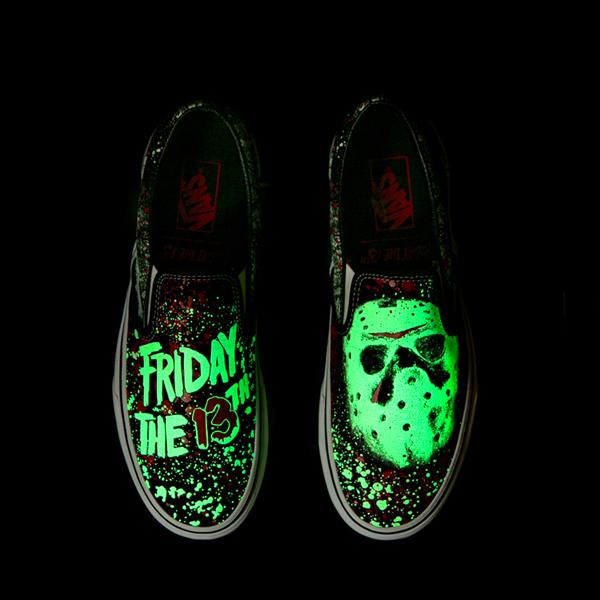 alternate view Vans x Horror Slip On Friday The 13th Skate Shoe - BlackALT1