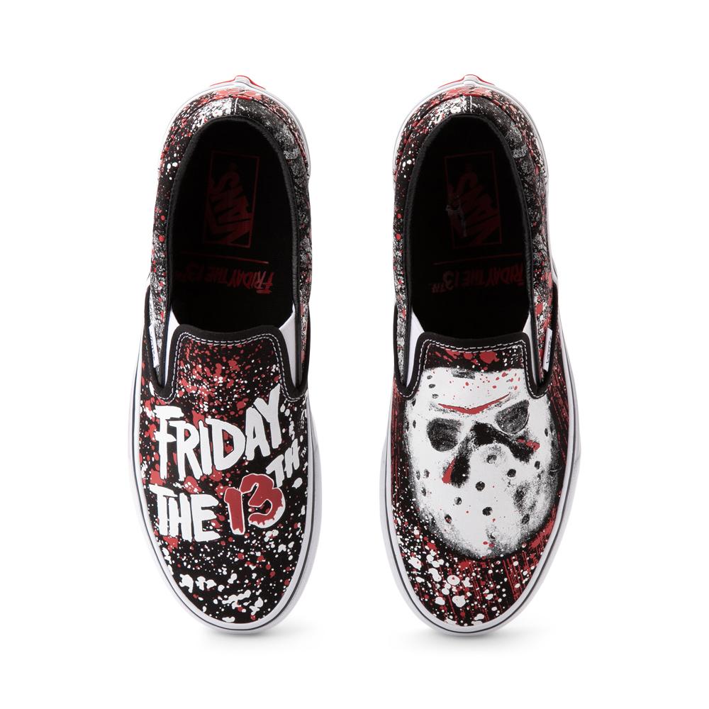 Vans x Horror Slip On Friday The 13th Skate Shoe - Black