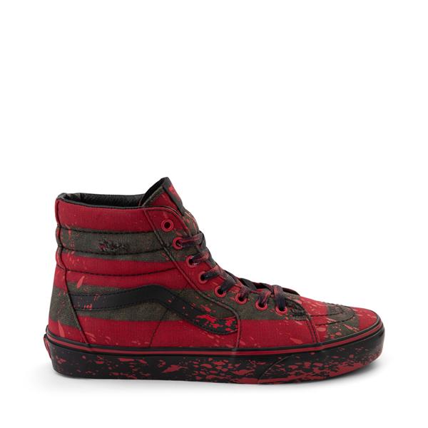 Vans x Horror Sk8 Hi A Nightmare On Elm Street Skate Shoe - Red