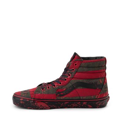 Alternate view of Vans x Horror Sk8 Hi A Nightmare On Elm Street Skate Shoe - Red