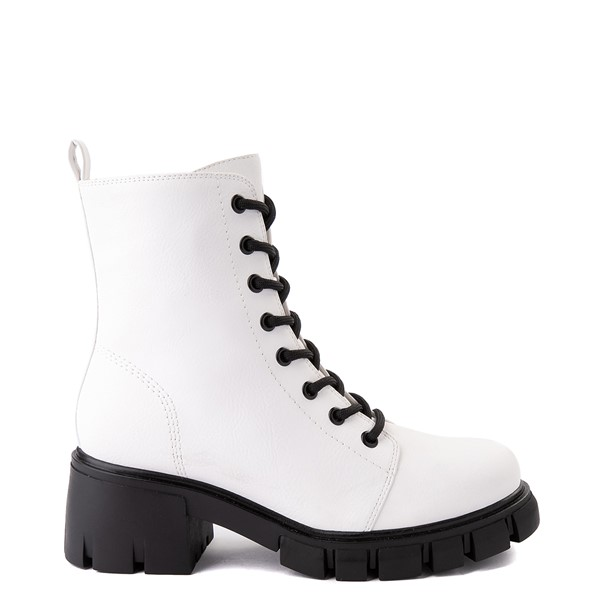 Womens MIA Marlee Combat Boot - White