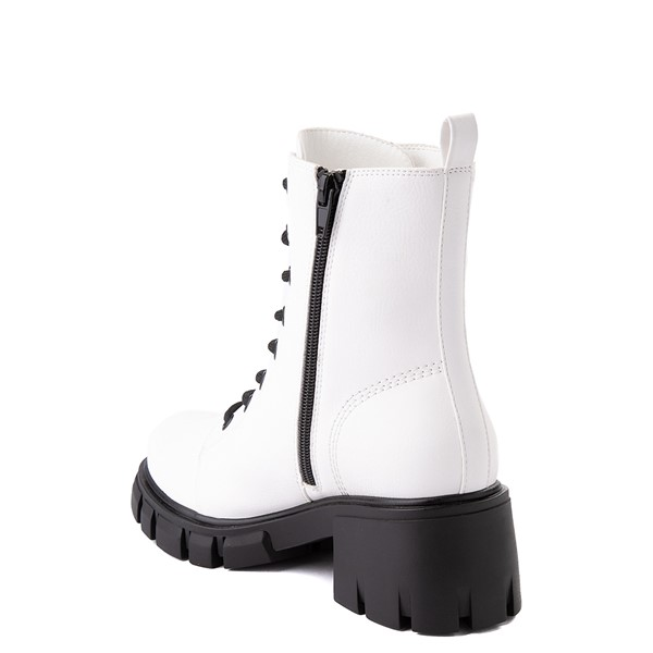 alternate view Womens MIA Marlee Combat Boot - WhiteALT1