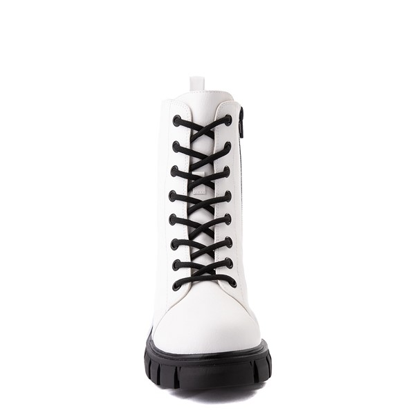 alternate view Womens MIA Marlee Combat Boot - WhiteALT4