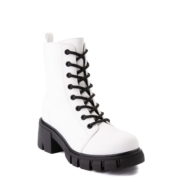alternate view Womens MIA Marlee Combat Boot - WhiteALT5
