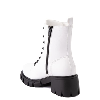 Alternate view of Womens MIA Marlee Combat Boot - White
