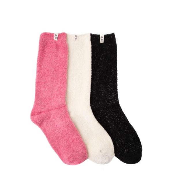 Womens UGG® Keri Sparkle Crew Socks 3 Pack - Multicolor
